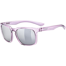 UVEX LGL 35 Brille, berry crystal/mirror silver